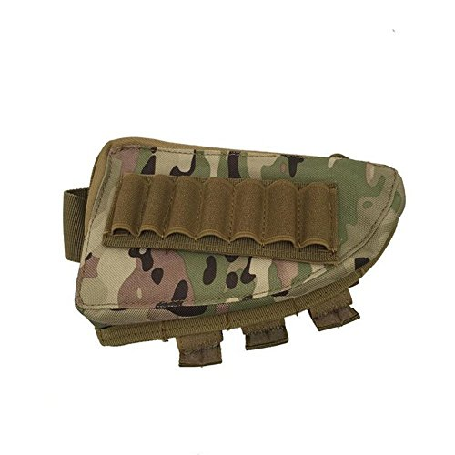 VAlink Tactical Buttstock Shotgun Rifle Stock Ammo Portable Pouch Shell Cartridge Holder...