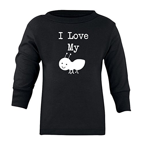 We Match! Unisex-Baby I Love My Aunt (Ant) Long Sleeve T-Shirt (Black, 18 Months) (Match Hipster)