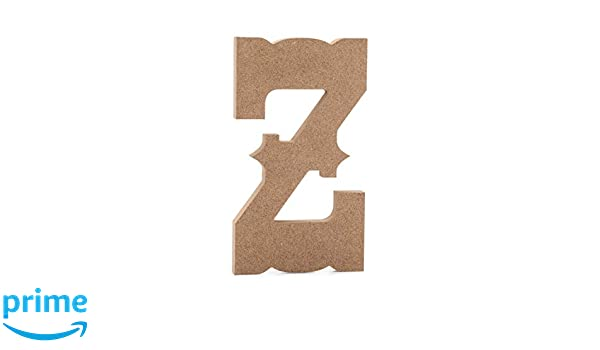 JoePauls Crafts Premium MDF Wood Wall Letters 6 Old English Wooden Letter Z 6 inch, Z