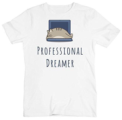 Professional Dreamer, Cat Sleeping On The Laptop Men's T-Shirt