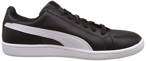 Puma Smash Leather, Baskets Basses Mixte Adulte Noir (Black/Blue 14)
