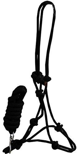 Knotenhalfter mit Führstrick Bodenarbeit Set schwarz