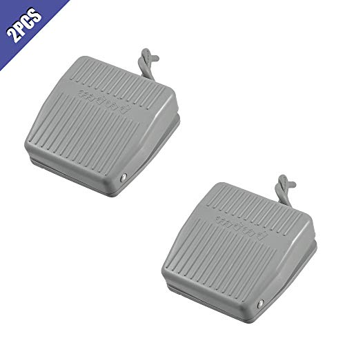 Ximimark Momentary Control Rectangle Nonslip Foot Pedal Switch Tfs-201 Electric Power Pedal Foot Switch 2Pcs