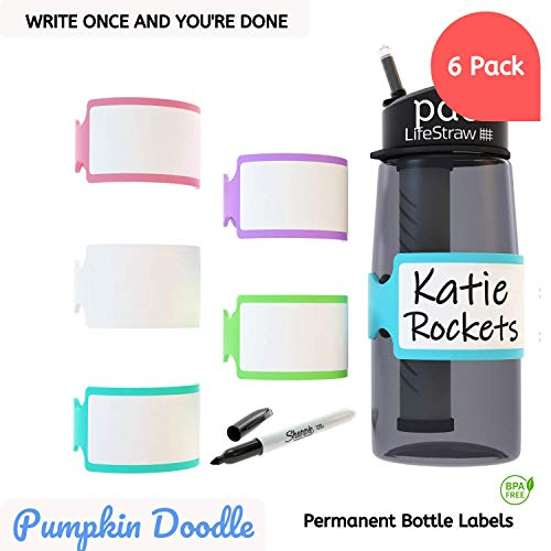 Personalize-able Write-on Labels for Bottles/Sippy Cups/Food Containers 6pcs -