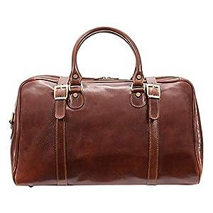 Wayfarer Italian Leather Duffel Bag Carry-on Size 17