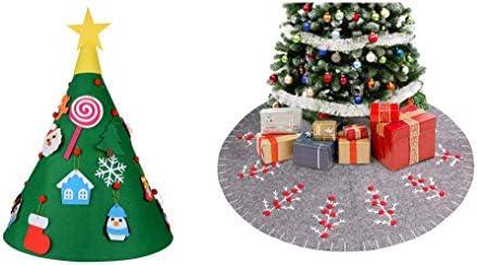 Doolland Árbol de Navidad DIY+Falda de árbol de Navidad de Fieltro ...
