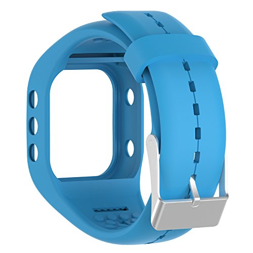 Awinner Bands for Polar A300,Silicone Replacement Band for Polar A300 (Blue)