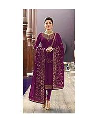 STELLACOUTURE Indian/Pakistani Silk Straight Ethnic wear Salwar Kameez for Women LT