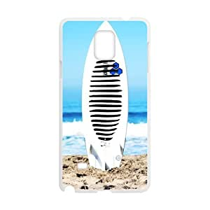 Fashion sport, Cool surfboard picture for white plastic SamSung Galaxy Note4 case