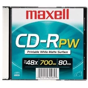 Maxell 648721 Single Write-Once CD-R 80 Minute Capacity 700Mb for Promotional Music Or Graphic Use Printable White Matte Slim Jewel by Maxell (Image #2)