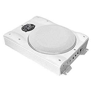 Pyle Lanzar AQTB8 8-Inch 1000 Watts Low-Profile Super Slim Active Amplified Marine/Waterproof Subwoofer System - Set of 1
