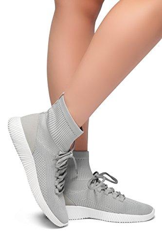 Herstyle Kvinnors Onefour- Sticka Utrustat Socka Sneakers Grå