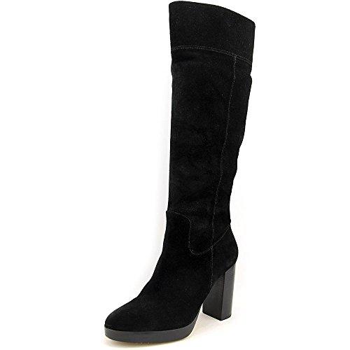 Michael Michael Kors Regina Platform Boot Suede Women Black (9.5M)