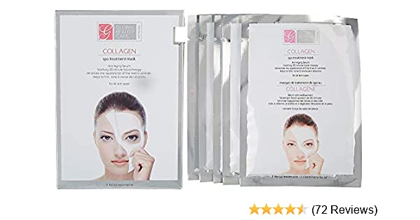 Global Beauty Care Collagen Spa Anti Aging Treatment Mask For All Skin Pack  of 5