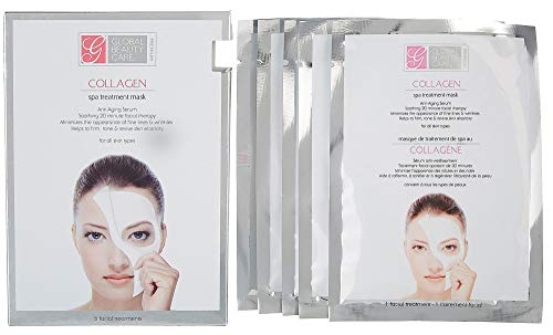 Global Beauty Care Collagen Spa Anti Aging Treatment Mask For All Skin Pack of 5 (Skin Spa Beauty)