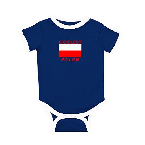 Cute Rascals Coolest Polish Cotton Short Sleeve Crewneck Unisex Baby Soccer Bodysuit Sports Jersey - Royal Blue, 24 Months (Infant Bodysuit Polish)