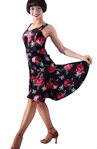 Dress Latin Ballroom Skirt Cha Sexy Waltz Backless Dress Black Dress Cha R5UnEn