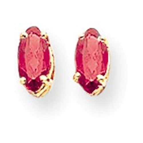 14k 6x3mm Marquise Pink Sapphire earring