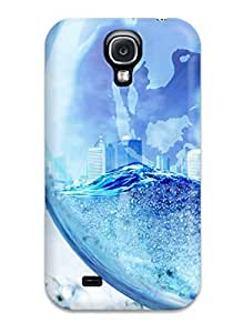 Defender Case For Galaxy S4, 3d Waters Pattern