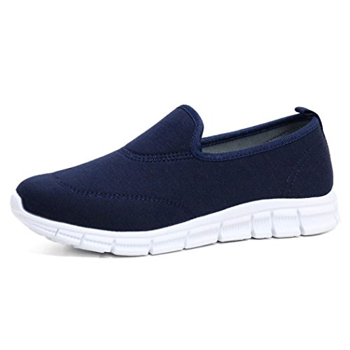 Ladies Flexi Surf Comfort Plimsoll Casual Walk Pumps Sports Trainer Holiday Go Shoes Size 4-8 Navy. uQTsc