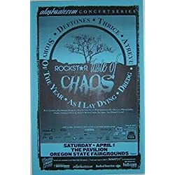 Deftones Thrice Taste Of Chaos Concert Tour Poster