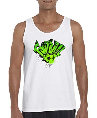 Druckerlebnis24 Camiseta de tirantes para hombre y mujer de fútbol