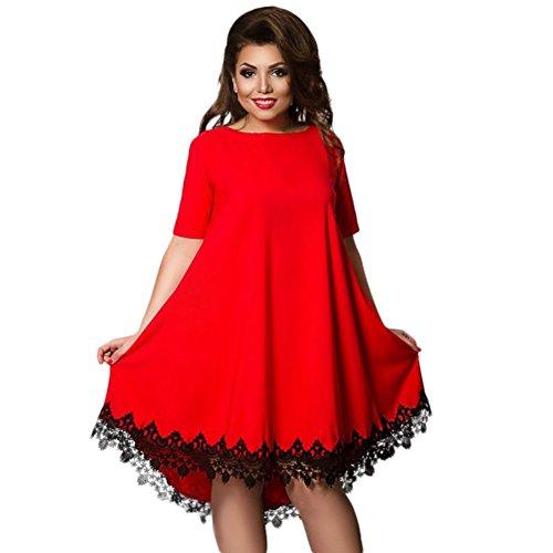 Été Daxin Robe En Dentelle À Manches Courtes Pour Femmes De Taille Plus Robe Chemise Robe L-6xl