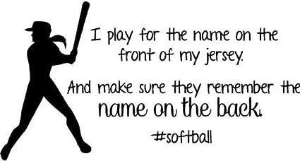 Amazon.com: Softball Wall Decal   Girls Inspirational Sports ...