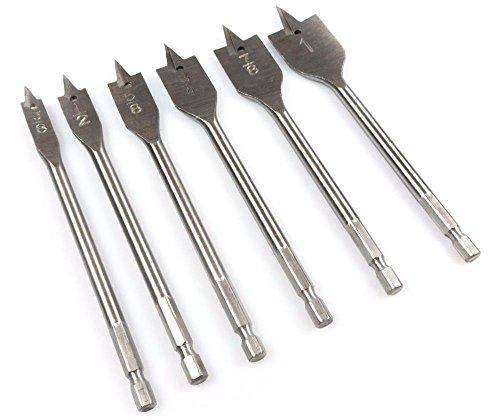 Power Tools NEW 6pc Quick Change Boring Drill Bit Set (Mm 6pc Screwdriver)