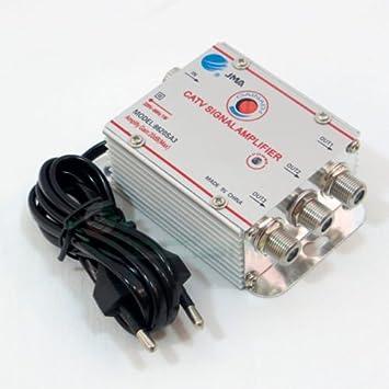Amplificador de señal de antena para TV digital terrestre y por cable, 3 salidas, +20dB