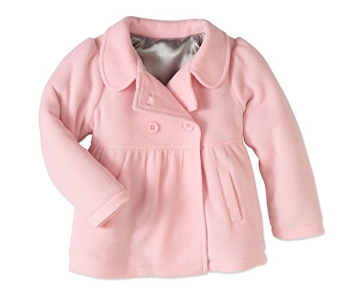 Healthtex Toddler Girls Pink Fleece Dress Coat Peacoat (4T)