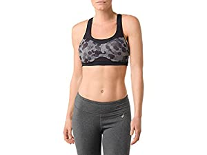 Asics WU2788 Women's Adjust Bra, Castlerock Hexagon Scramble - XL