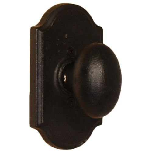 - Weslock 7105M Durham Single Dummy Door Knob with Premiere Rose from the Molten B, Black