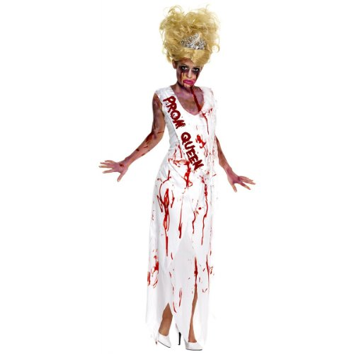 Smiffys High School Horror Zombie Prom Queen Costume