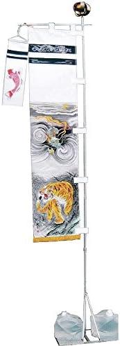 [大畑の武者絵幟][節句のぼり][武者絵のぼり]龍虎[2m](巾0.46)スタンド(水袋)[ポールフルセット][日本の伝統文化][五月人形]