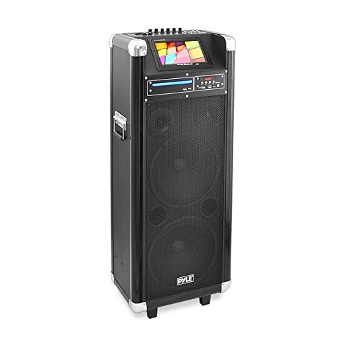 Pyle Karaoke Vibe Bluetooth PA Speaker System, Audio & Video Wireless Entertainment System, Microphone Included ()