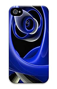 Blue abstract ID03 Custom iPhone 4/4S Case Cover ¨C Polycarbonate