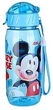 Kids Drinking Bottle Minnie Mickey Mouse Pooh Snow White folding straw school children drinking cup sipper bottle 400ml...