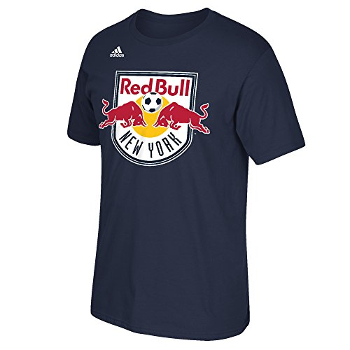 fan products of MLS New York Red Bulls Men's Primary Logo Short Sleeve Tee,  XX-Large, Navy