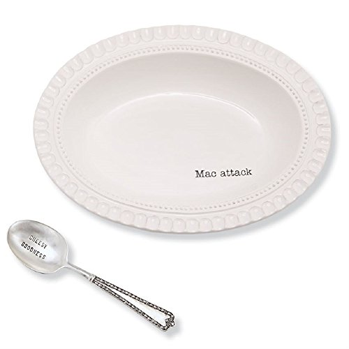 Mac and Cheese Serving Bowl and Spoon Set, Bowl 9