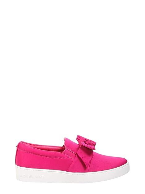 Michael By Michael Kors Mujer 43R8WIFP1D564 Fucsia Cuero Zapatillas Slip-On: Amazon.es: Zapatos y complementos