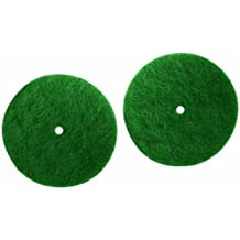 Koblenz Genuine Scrubbing Pads Pack of Two Six Inch Pads and Two Plastic Retainers