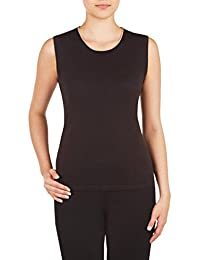 Nygard Women's Plus Size Alia Sleeveless Scoop Neck Shell with Tipping Black