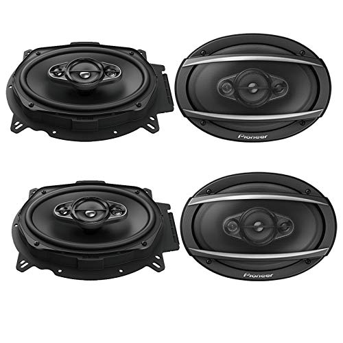 "4 X Pioneer TS-A6965R 6"" x 9"" Inch 3-Way TS Series Coaxial C"