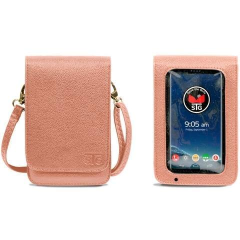 Save The Girls Touch Screen RFID Purse by Metro - Durable Lightweight Faux Leather Bag and Wallet with Touch Screen Window for Phones by Save The Girls