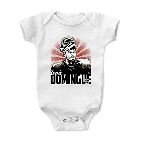 500 LEVEL's Louis Domingue Infant & Baby Onesie Romper 12-18M White - Arizona Hockey Fan Gear Officially Licensed by the NHL Players Association - Louis Domingue Classic K
