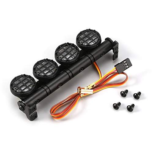 Kongqiabona AX-506W Barra de luz LED para Techo con lámpara Ultra Brillante multifunción con 4 focos para 1/10 1/8 RC Coche...