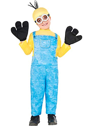 HalloCostume Boys Kevin Minion Costume - Minions Movie Halloween Costumes for Boys, Kids -