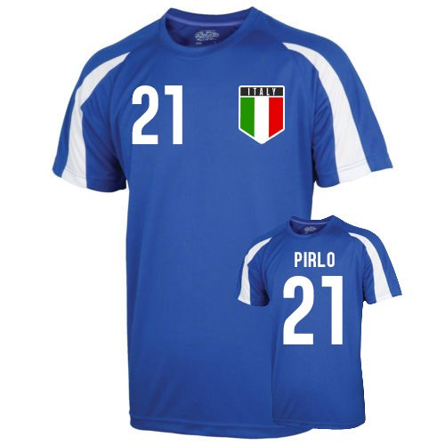 Italy Sports Training Jersey (pirlo 21) - Kids (Italy Training Jersey)