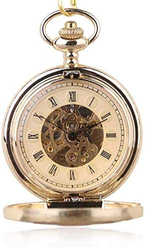 懐中時計、アンティークスチームパンクスケルトンメカニカルメンズアンティークチェーンクロック